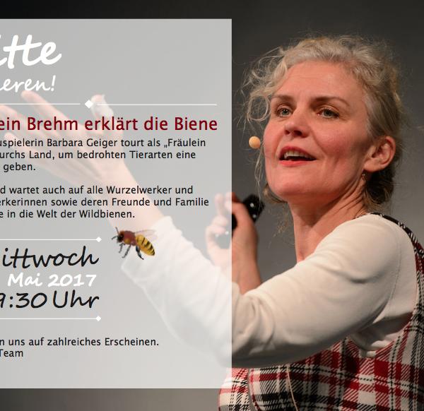 """Einladung zu """"Fräulein Brehm erklärt die Biene"""""""