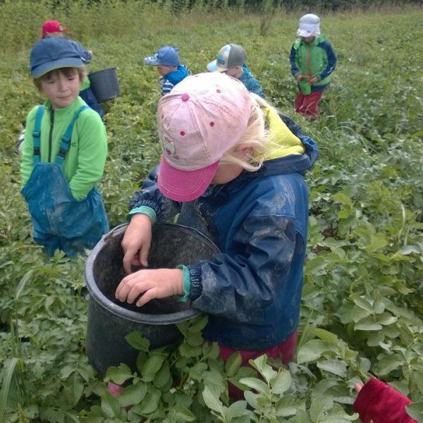 Besuch vom Waldkindergarten