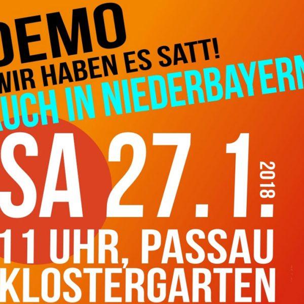 Demo in Passau: Wir haben es satt!